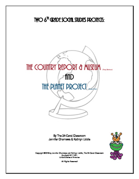 Country Report and Planet Project - World Cultures