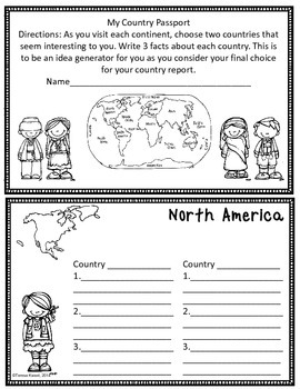 Writing Country Reports for 6th Grade