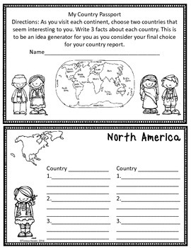 Writing Country Reports for 4th Grade