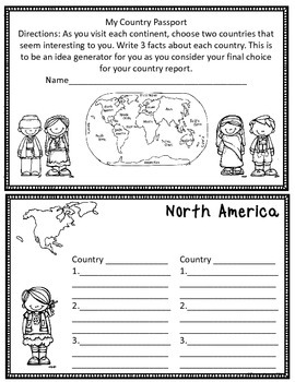 Writing Country Reports for 5th Grade