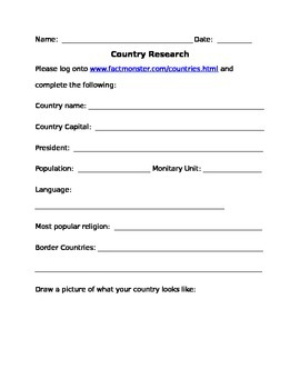 Country Research