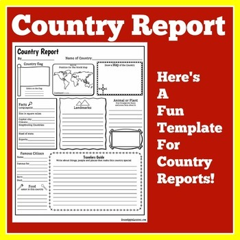 Country Research Project | Country Report Template by Green Apple ...