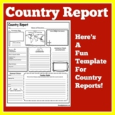 Country Research Project | Country Report Template