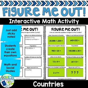 Country Social Studies Activity Figure Me Out