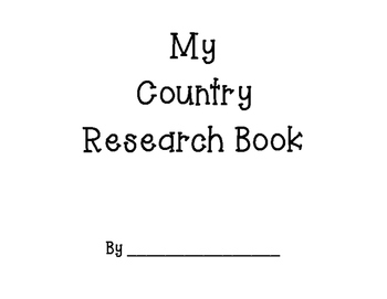 Country Research Book