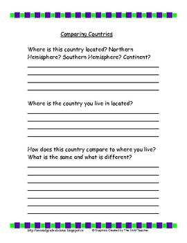 Country Research Booklet