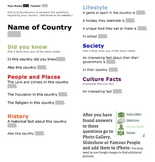 Country Research - Electronic Worksheet