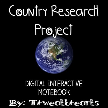 Digital Country Research - Google Interactive Notebook
