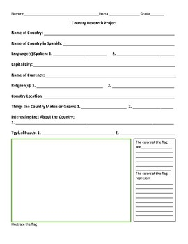 Country Research Handout