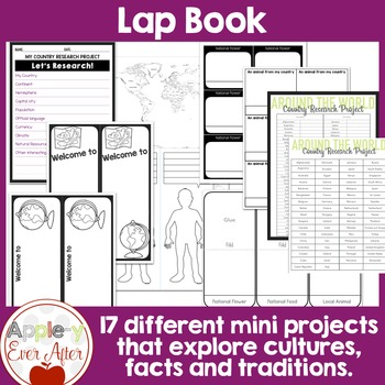 Countries Around the World Research Lap Book Project