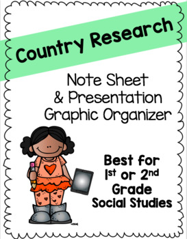 Country Research Note Sheet and Presentation Oragnizer