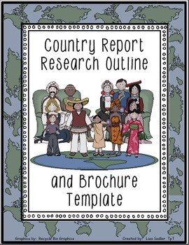 Country Research Outline Form and Brochure Template