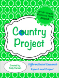 Country Research Project 6-8 CCSS Aligned with Differentia