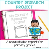 Country Research Project | A Social Studies Report