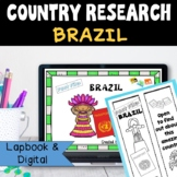Country Research Project: Brazil - Interactive Lapbook and Notebook
