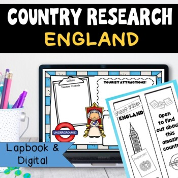 England Country Research Project, PBL: Interactive Lapbook and Notebook