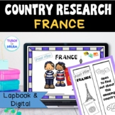 France Country Research Project, PBL: Interactive Lapbook and Notebook