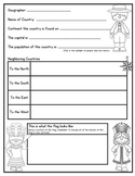 Country Research Project Graphic Organizer