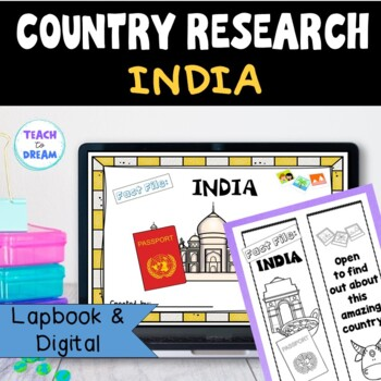 India Country Research Project, PBL: Interactive Lapbook and Notebook