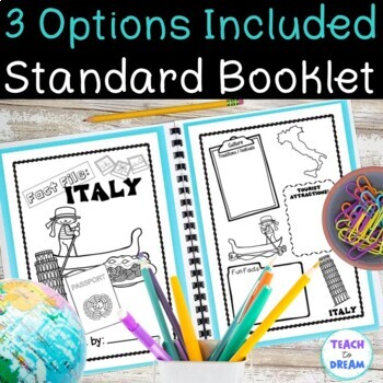 Country Research Project: Italy - Interactive Lapbook and Notebook