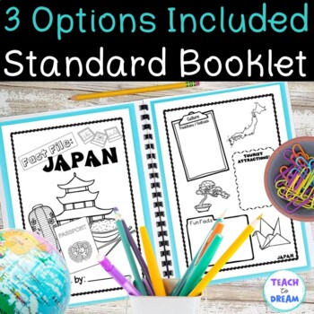 Country Research Project: Japan - Interactive Lapbook and Notebook