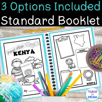Country Research Project: Kenya - Interactive Lapbook and Notebook