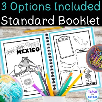 Country Research Project: Mexico - Interactive Lapbook and Notebook