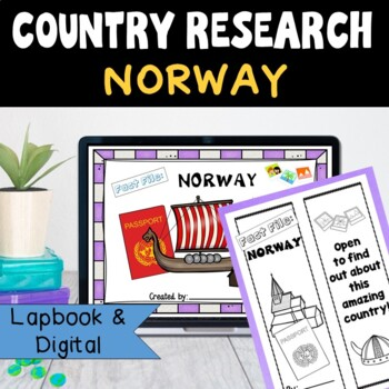 Norway Country Research Project, PBL:Interactive Lapbook and Notebook