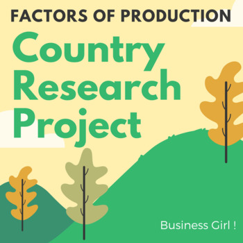 Factors of Production Country Research Project (Part 1)