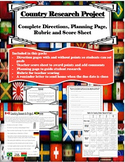 Country Research Project- Perfect for Gifted Enrichment
