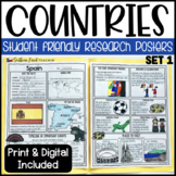 Country Research Project Posters - Set One