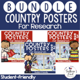 Country Research Project Posters BUNDLE