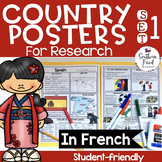 Country Research Project Posters - Set One FRENCH (Special Request)
