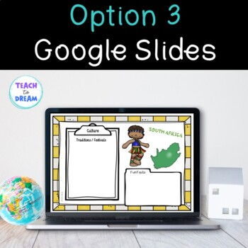South Africa Country Research Project, PBL:Interactive Lapbook and Notebook