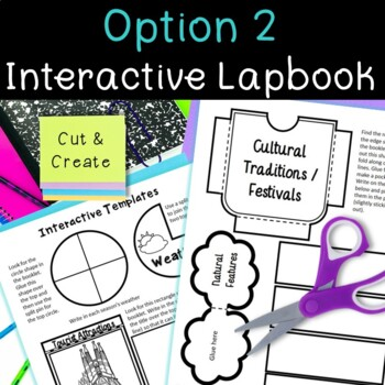 Country Research Project: Spain - Interactive Lapbook and Notebook