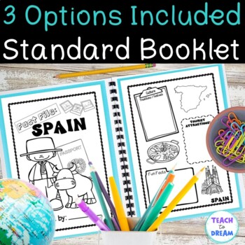 Spain Country Research Project: Interactive Lapbook and Notebook