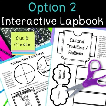 Country Research Project: USA - Interactive Lapbook and Notebook