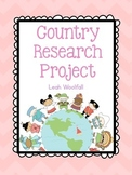 Country Research Project with a Choice Board!