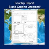 Country Research Report Blank Graphic Organizer