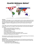 Country Research Report Graphic Organizer