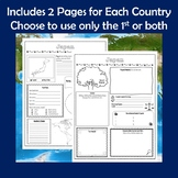 Country Research Report Graphic Organizers Bundle