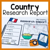 Country Research Report (Worksheets & Graphic Organizers)