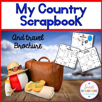 Country Research Travel Brochure and Scrapbook