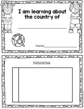 Country Research Worksheets