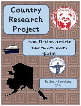 Country Research Writing Project: Narrative, Poem, Informa