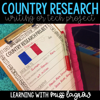 Country Research Writing or Technology Project