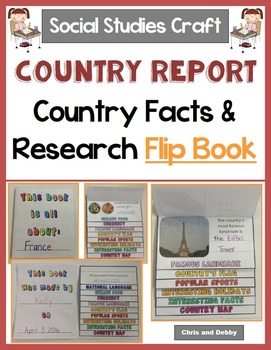 Country Research and Facts Interactive Activity - Social Studies Crafts Series