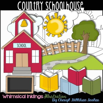 Country Schoolhouse Clipart Collection