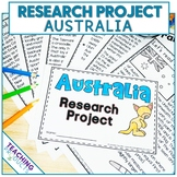 Country Research Project - A Country Study About Australia with Reading Passages