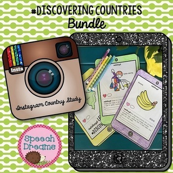 Instagram Country Study Bundle {Social Studies Interactive Booklet}